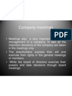 Company Meetings as Per Indian Compnay Law
