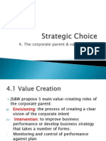 Chapter 6- The Corporate Parent and Value Creation