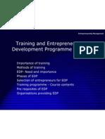 trainingandentrepreneurshipdevelopmentprogrammeinindia-110223223513-phpapp01