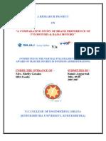 A Comparative Study of Brand Preference of TVS Motors & Bajaj Motors