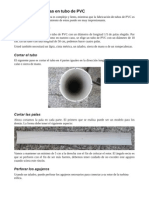 Fabricacion de Palas en Tubos de PVC