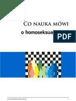 Co Nauka Mowi o Homoseksualizmie