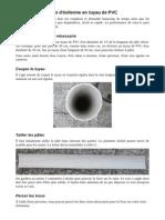 Fabriquer des pâles en tuyau de PVC