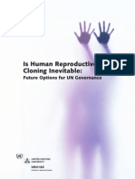 Human Cloning - UN Report 2007