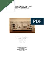 VariableHighVoltageDCPowerSupply
