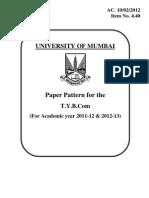 New TYBCOM Paper Pattern