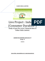 dabur Financial data analysis