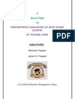 Evaluation of Mutual Fund (Mahendra & Jignesh G.)