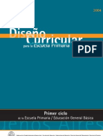 Diseño Curricular para la Escuela Primaria - Primer Ciclo