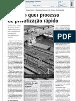 Primeiro de Janeiro - Governo quer processo de privatização rápido - 20