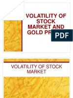 volatility of stock market and gold prices