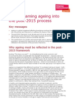 Mainstreaming ageing into the post-2012 process