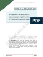 HISTORIA DE ESPAÑA TEMA 06 RESTAURACIÓN 2011-2012
