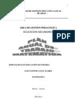 Plan de Trabajo Especialistas 2012