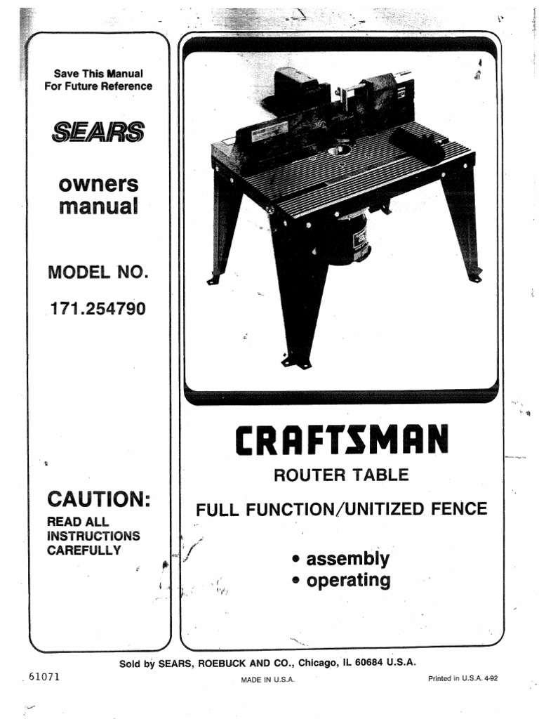 Sears router table 925479 nut hardware screw greentooth Gallery