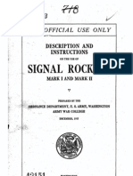 Signal Rockets Mk I&II USA 1917