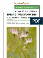CNHG Introduction to California Spring Wild Flowers of the Foothills, Valleys, and Coast