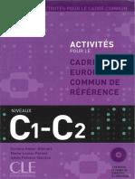 Activités pour le cadre européen commun C1-C2 et corrigés