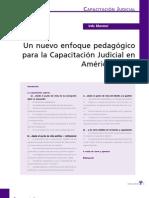 Nuevo enfoque pedagógica para la Capacitación Judicial