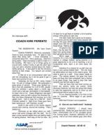Coach Ferentz - 03 20 12