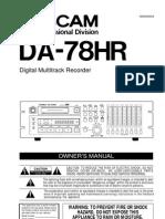 DA 78HR Manual