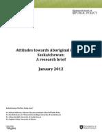 Attitudes Toward Aboriginals in Saskatchewan