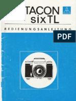 Handbuch Pentacon SIX TL
