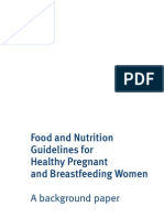 Food and Nutrition Guidelines Preg and Bfeed