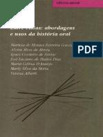 Livro - Abordagens e usos da história oral