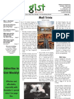 Gist Weekly Issue 2 - Mall Trivia