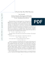 A Logical Proof of the Free Will Theorem - Reznikoff 2010