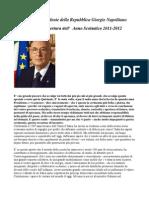 Intervento Sulla Scuola Del Presidente Della Repubblica Giorgio Napolitano