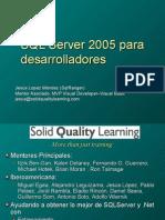 SQL Server 2005 Para Desarrolladores Madrid