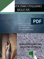 4.- Romanticismo Italiano Siglo XX