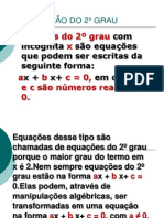 Equação do 2°Grau