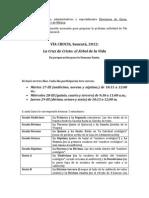 Información Vía Crucis para encargados de curso
