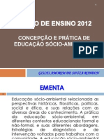 APRESENTAÇÃO PLANO EDUCAÇÃO AMBIENTAL