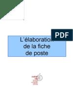 Guide Pratique Elaboration Fiche Poste