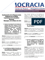 Barómetro Legislativo del martes, 20 de marzo de 2012