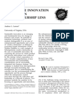 Sustainable Innovation Through an Entrepreneurship Lens 2000