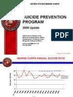 USMC Suicide Update 2008
