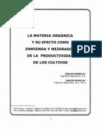 La Materia Orgánica y Su Efecto como Enmienda y Mejorador de La productividad de Los Cultivos