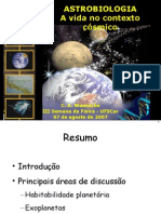 Talk Astrobiologia Ifusp2007