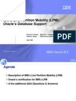 IBM LPM and Oracle DB Support 071309 Version 4
