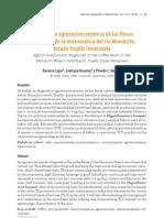 Diagnóstico agrosocioeconómico de las fincas cafetaleras de la microcuenca rio monaicito, trujillo venezuela