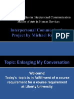 Interpersonal Communication Project