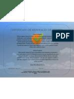 CERTIFICADO DE RENOVAÇÃO DE ALIANÇA