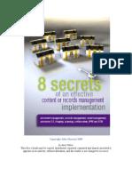 8 Secrets of an Effective Ecm or Erm Implementation