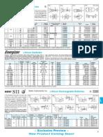 Datasheet MS920 Battery