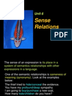 Chapter 6 (Sense Relations)